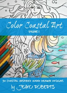 bright blue colored mermaid and pencils (1)