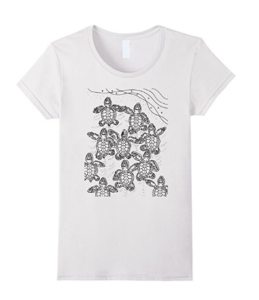 baby sea turtle coloring t shirt