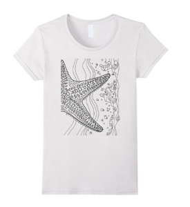 starfish t shirt colorable