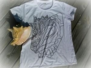 conch tshirt colorable tshirt